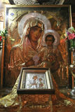 Virgin Mary with baby Jesus, Church of the Sepulchre of Virgin Mary Royalty Free Stock Photography