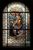 Virgin Mary with baby Jesus and Saint Dominic Royalty Free Stock Photography