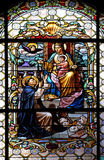 Virgin Mary with baby Jesus and Saint Dominic royalty free stock photos