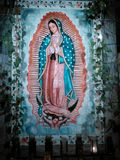 Virgin Mary. Beautiful image of our Lady of Guadalupe in tile mosaic Royalty Free Stock Image