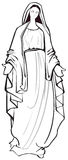 Virgin Mary. Black and white vector illustration of the Virgin Mary Royalty Free Stock Photography