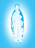 The Virgin Mary in blue Royalty Free Stock Photos