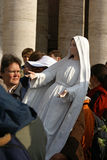 Virgin Mary carried by man, Vatican Stock Photo