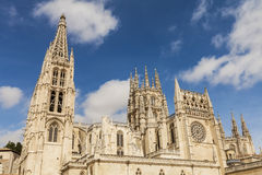 Virgin Mary catholic cathedral in Burgos, Spain Royalty Free Stock Image
