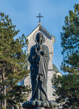 Virgin Mary che trasporta il bambino Jesus Immagini Stock
