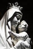 Virgin Mary and Child. Statue of Virgin Mary and Baby Jesus Stock Photography