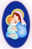 Virgin Mary and child Royalty Free Stock Photos