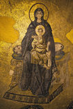 Virgin Mary and Child Christ. The Apse Mosaic, Hagia Sophia, Istanbul, Turkey Stock Photography