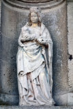 Virgin Mary with Child Sculpture in Church Alcove stock photos