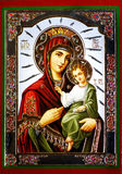 Virgin Mary com ícone de Jesus Imagem de Stock