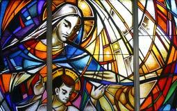 Virgin Mary com criança Jesus Fotos de Stock
