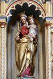 Virgin Mary con il bambino Jesus Fotografia Stock Libera da Diritti
