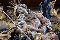 Virgin Mary con il bambino Jesus Immagine Stock Libera da Diritti