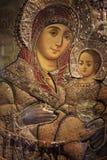 Virgin Mary dell'icona di Bethlehem Immagini Stock Libere da Diritti