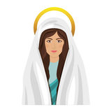 Virgin mary design. Cartoon virgin mary icon over white background. religious symbol. colorful design. vector illustration Vector Illustration