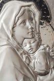 Virgin Mary e bebê Jesus fotografia de stock