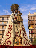 Virgin Mary Flower Sculpture Valencia Spain Stock Photography