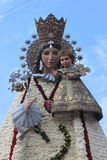 Virgin Mary Flower Sculpture Valencia Spain Stock Photography