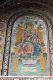 Virgin Mary in the frescoes Troyan Monastery in Bulgaria royalty free stock photography