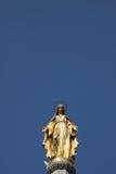 Virgin Mary. Gilded statue of Virgin Mary, Zagreb, Croatia Royalty Free Stock Photos