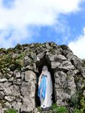 Virgin Mary Grotto. A grotto of the blessed virgin Mary in Ireland Stock Photo
