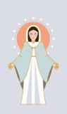 Virgin Mary hearts Royalty Free Stock Image