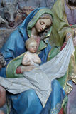 Virgin Mary holding baby Jesus Royalty Free Stock Photos