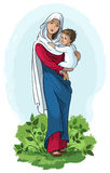 Virgin Mary holding baby Jesus Royalty Free Stock Image