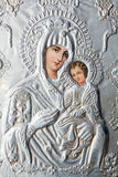 Virgin Mary holding the Child Jesus Eastern Orthod Stock Images