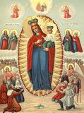 Virgin Mary. Icon: joy of All who sorrow. Stock Photography