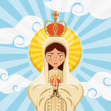 Virgin mary icon Royalty Free Stock Photography
