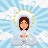 Virgin mary icon Stock Photo