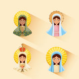 Virgin mary icon Royalty Free Stock Images