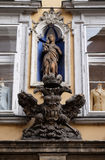 Virgin Mary and Imperial eagle emblem in Graz Stock Image