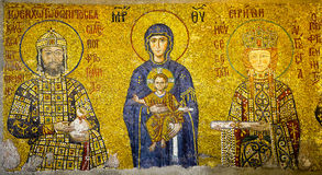 Virgin Mary and infant Christ child Stock Image