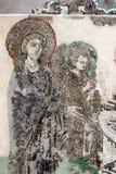 Virgin Mary, Jesus Christ . Byzantine mosaic art. Royalty Free Stock Photos