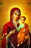 Virgin Mary with Jesus icon royalty free stock image
