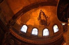 Virgin Mary Jesus mosaic Hagia Sophia Royalty Free Stock Photo