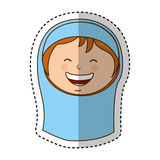 Virgin mary manger character. Vector illustration design Royalty Free Stock Photography