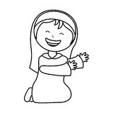 Virgin mary manger character. Vector illustration design Royalty Free Stock Images
