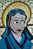 Virgin Mary Mosaic Stock Photo