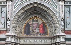 Virgin Mary mosaic royalty free stock photo