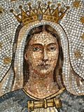 Virgin Mary Mosaic. A mosaic image of the blessed virgin Mary Stock Image