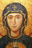 Virgin Mary mosaic at Hagia Sophia. 11th century mosaic of Virgin Mary on the wall of Hagia Sophia museum in Istanbul Stock Photo
