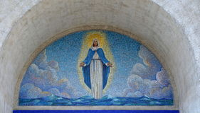 Virgin Mary. Mosaic icon Royalty Free Stock Photography