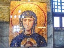 Virgin Mary mosaic inside the Aya Sophia Stock Images