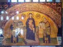 Virgin Mary mosaic inside the Aya Sophia. Istanbul, Turkey - sept 3, 2011: Virgin Mary mosaic inside the Aya Sophia in Istanbul, Turkey. Hagia Sophia was an Royalty Free Stock Photo