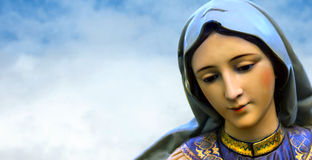 Virgin Mary mother of Jesus Christ Royalty Free Stock Photos