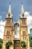Virgin Mary na catedral de Notre Dame Imagem de Stock Royalty Free