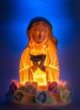 Virgin Mary Night Lamp Stock Images